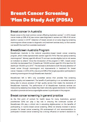 Breast Cancer Screening PDSA