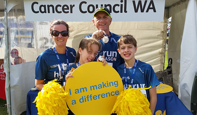 The Symonds family at the HBF Run for a Reason