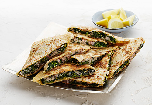 Cheese and Spinach Gozleme