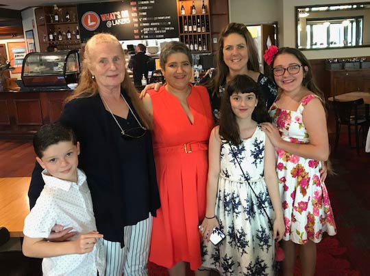 Marina Berry with her family.