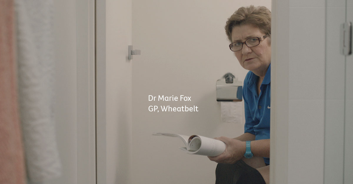 Dr Marie Fox from the Wheatbelt appears in the Find Cancer Early Campaign ads