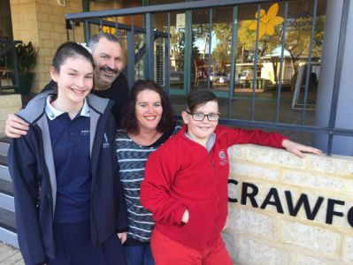 the Sheilds family at Cancer Council WA's Crawford Lodge