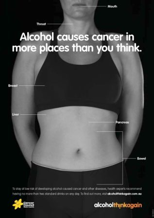 Alcohol. Think Again campaign poster