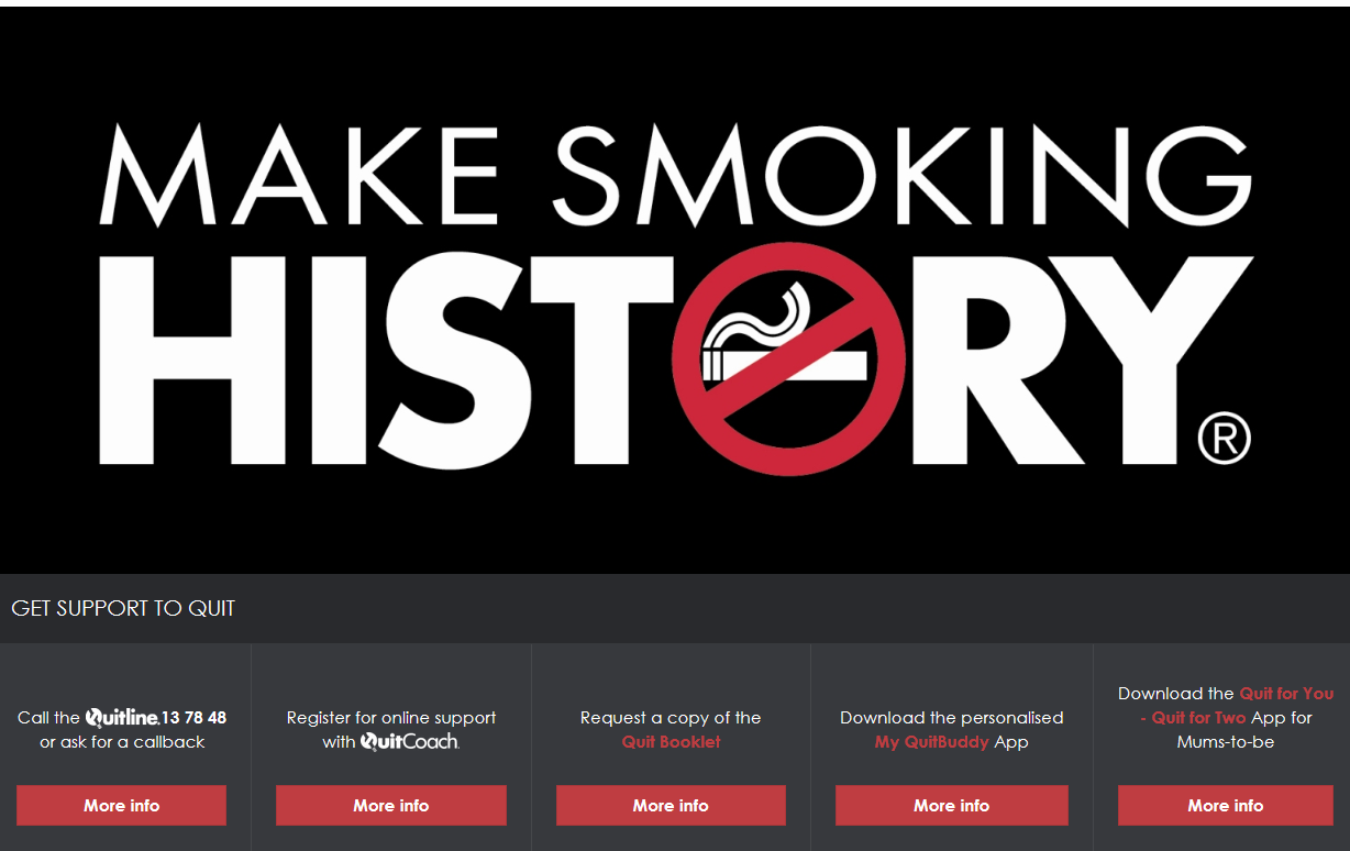 Make Smoking History website